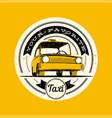 taxi retro vintage grunge label vector image