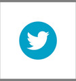 twitter logotype printed on paper social vector image