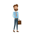 cheerful male teacher business man vector image