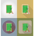sport flat icons 67 vector image