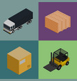 delivery logistics and transportation icons set vector image