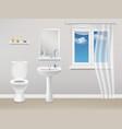 bathroom interior realistic vector image