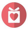 gift box heart love present shadow vector image