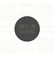Seamless simple line geometric patterns vector image