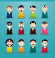 avatar set men - users icons vector image