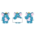 Blue Elephant Mascot vector image vector image