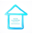 Blue house of drop water vector image vector image