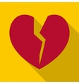 Broken heart icon flat style vector image vector image