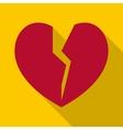 Broken heart icon flat style vector image