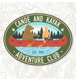 canoe and kayak club concept for shirt vector image