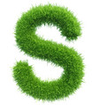 capital letter s from grass on white vector image