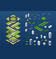 city isometric concept vector image vector image