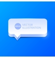 Clean speech bubble vector image vector image