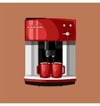 Coffee Machine and Cups vector image vector image