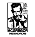 conor-mcgregor-mma-fighter vector image