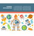 cosmos universe exploration poster vector image vector image