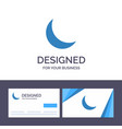 creative business card and logo template moon vector image vector image