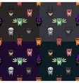 Cute Hallowen cats set with differen backgrounds vector image