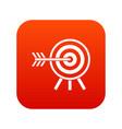 darts icon digital red vector image vector image