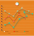 detailed colorful infographic elements vector image