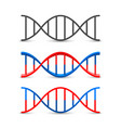 dna symbol set art vector image