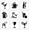 Drink icons vector image