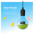 energy concept background with solar panel in vector image vector image