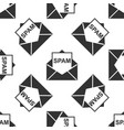 envelope with spam icon seamless pattern vector image