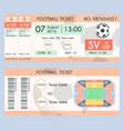 football ticket modern design soccer stadium vector image vector image