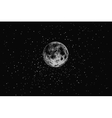 Full moon in outer space vector image