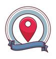 gps location cartoon vector image vector image