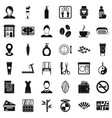 hairdressing tool icons set simple style vector image vector image