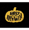 Happy Halloween Party banner with gold typography vector image