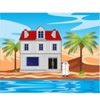 Hotel ashore epidemic deathes in desert vector image vector image