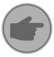 index finger silver coin vector image vector image