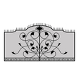 iron gate vector image vector image
