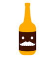 isolated beer bottle icon vector image vector image