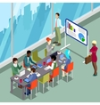 Isometric Conference Room Business Presentation vector image vector image