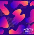 liquid color background design with trendy shapes vector image vector image