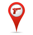 location gun icon vector image