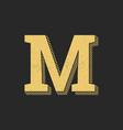 logo letter m gold vintage vector image vector image