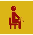 man with knee pain vector image vector image