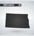 map us state north dakota vector image vector image