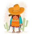 mexican man with guns vector image