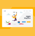 mexican or asian cuisine spicy meal landing page vector image