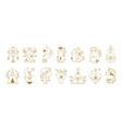 mystical symbols boho ethnic and alchemic icons vector image