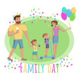 national day of families vector image