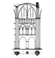 one bay of limburg cathedral cathedral vector image vector image