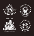 paintball game sport club logo templates of gamer vector image vector image