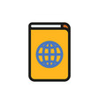 passport icon on white background vector image